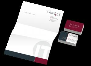 Gestaltung der Geschäftsausstattung für Sänger IT Consulting